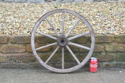Vintage old wooden cart wagon wheel  / 53.5 cm  FREE DELIVERY