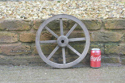 vintage old wooden cart wagon wheel - 34 cm  FREE DELIVERY