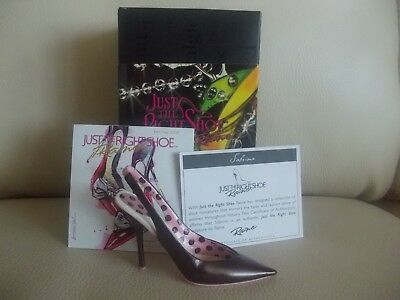 Just The Right Shoe 2008 Sabrina BNIB W/COA, Brochure #805560 Diamond Anniversar