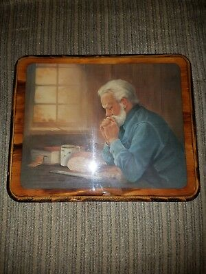 Portrait of Old Man Praying for His Daily Bread