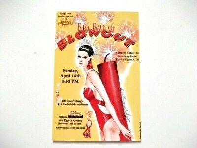 Broadway Cares Equity Fights AIDS Big Bang Blowout Postcard - 2007 - New York