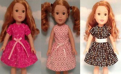 Doll Clothes Dress Fits 14.5 inch American Girl Wellie Wishers Doll 206abc