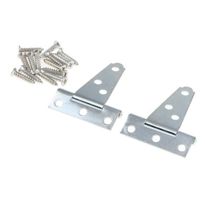 "1 PAIR 18/"" STRONG GARDEN GATE DOOR SHED TEE T HINGES SILVER ZINC GALVANISED"