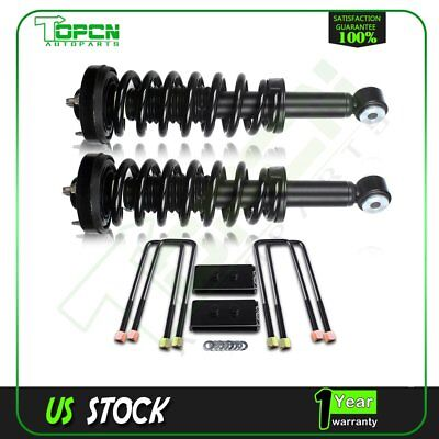 For Ford F150 2WD and 4WD 1 set 1'' rear Leveling kit&2 Front Complete Struts