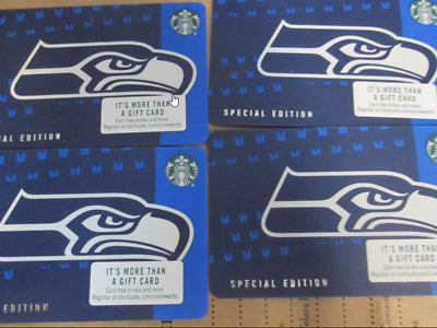 Rare Limited Edition 2018 Starbucks NFL Seattle Seahawks gift card, Never swiped