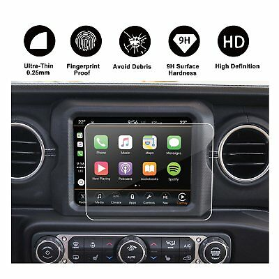 RUIYA 2018 Jeep Wrangler JL Uconnect Touch Screen Protector Tempered Glass 8.4In