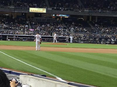 2 - Second Row Field Level Sec. 110 New York Yankees Tickets v Detroit 4/2/19