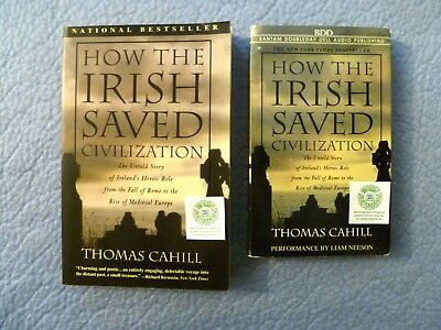 HOW THE IRISH SAVED CIVILIZATION by THOMAS CAHILL BOOK & AUDIO CASSETTE L NEESON