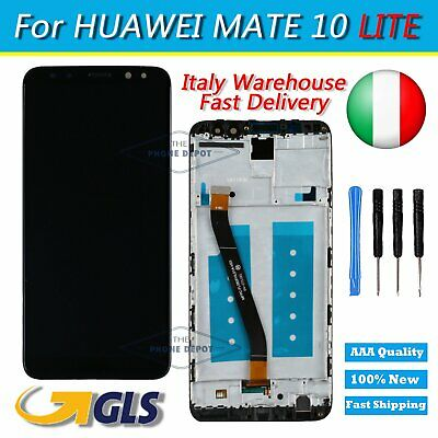 VETRO DISPLAY LCD TOUCH SCREEN +FRAME PER Huawei Mate 10 Lite NERO RNE-L21 L01