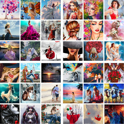 40*50cm DIY Paint By Numbers Kit Oil Painting Artwork Home Wall Decor Women Lady