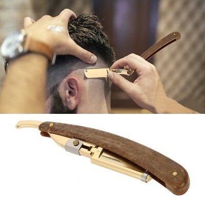 Straight Barber Stainless Steel Razor Folding Shaving Knife Hair Removal Tool