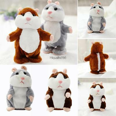 Cheeky Hamster Repeats What You Say Electronic Pet Talking Plush Toy Cute Gift R