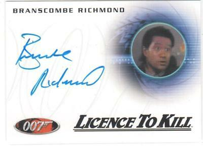 JAMES BOND 007 ARCHIVES A236 BRANSCOMBE RICHMOND in LICENCE TO KILL AUTOGRAPH