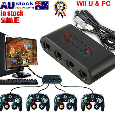 MAYFLASH 4 Ports GameCube Controller Adapter for Switch Wii U & PC USB PY