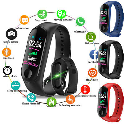 Smart Band Watch Bracelet Fitness Activity Tracker Blood Pressure HeartRate M3 H