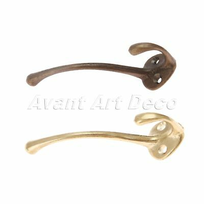 Vintage Style Brass Metal Hook Hanger Holder For Wall Door Storage Coat Clothes