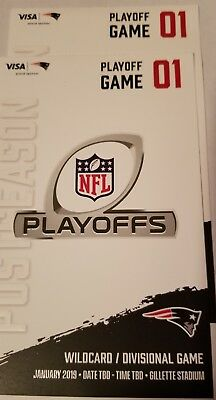 New England Patriots Playoff Tickets- 2 Tickets Together