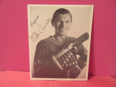 Chicago Blackhawks STAN MIKITA 8 x 10 photo publicity compliments KROGER signed
