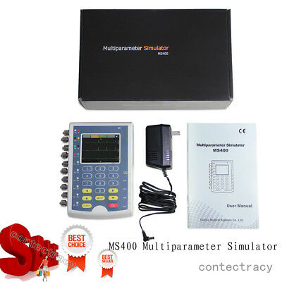 Hot CONTEC MS400 Portable Multiparameter Touch Color Patient Monitor Simulator