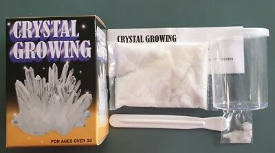 """CRYSTAL GROWING KIT"" Grow Your Own Crystal In Just A Few Days Fun & Educational"