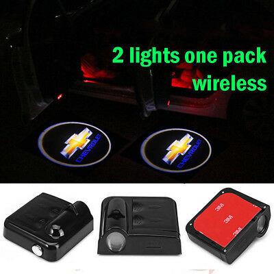 2 x LED Logo Light Ghost Shadow Projector Car Door Courtesy Laser for CHEVROLET