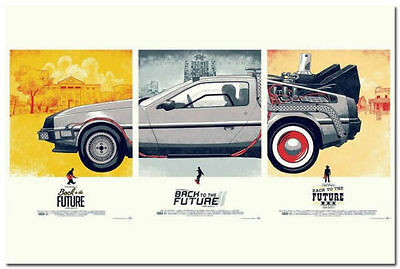 Back To The Future Classic Movie Art Silk Posters Wall Decor 13x20 24x36 inch 4