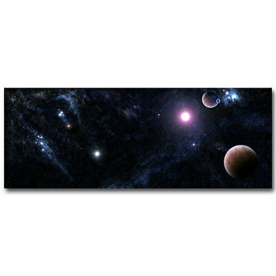 Milky Way Galaxy Star Space Silk Poster 13x34 24x64 inch Art Print