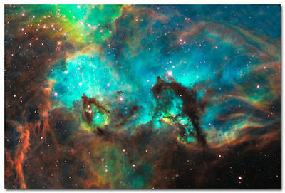 Space Galaxy Universe Planet Nebula Art Silk Poster 13x20 24x36 inch 004