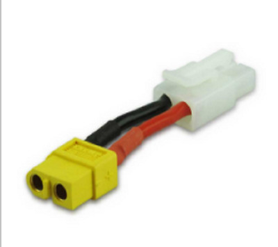 14AWG Tamiya Male to XT60 Female Adapter Convertor Cable 75mm  RC LIPO