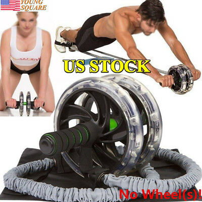 New Ab Roller Wheel Pull Rope Waist Abdominal Slimming Fitness Equipment Unisex