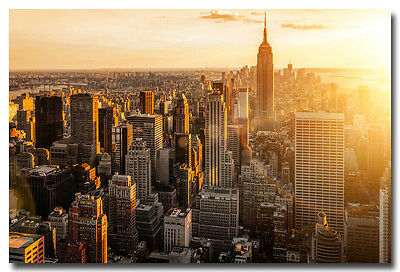 "Morning Sunrise New York City Landscape Art Silk Poster Print 13x20 24x36"" 002"