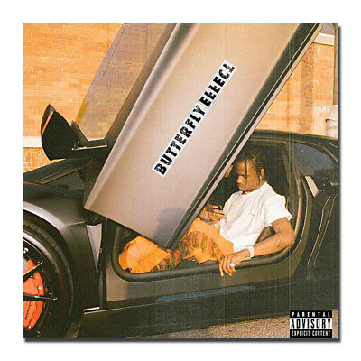 Travis Scott Butterfly Effect Music Silk Poster 16x16 24x24 inch