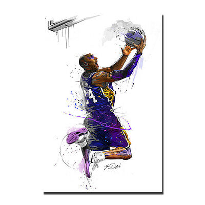 Basketball Star Kobe Bryant No.24 Lakers Art Silk Poster 13x20 24x36 Wall Decor