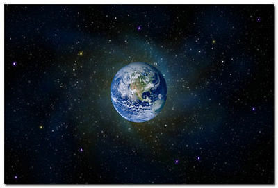 The Planet Earth Space Universe Art Wall Silk Poster 13x20 24x36 inch