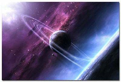 The Planet Saturn Space Universe Landscape Art Wall Silk Poster 13x20 24x36 inch