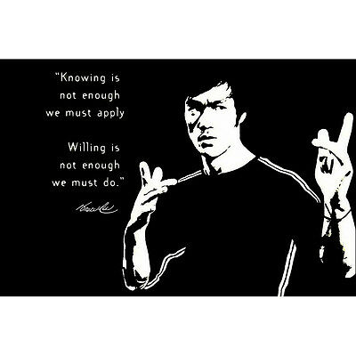 Bruce Lee Quotes Motivational Silk Poster 13x20 24x36 inch