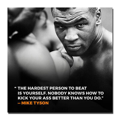 Mike Tyson Boxer Boxing Sports Silk Wall Poster Vintage 13x13 24x24 inch