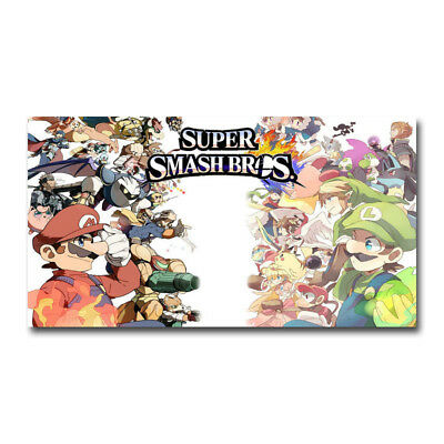 Super Smash Bros Ultimate Game Art Silk Poster 13x24 inch