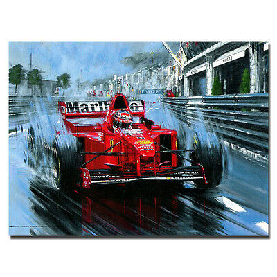Michael Schumacher Mercedes Germany F1 Racing Driver Silk Poster 13x18 inch