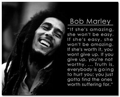 """Bob Marley /""""Before Pointing Fingers/"""" Quote Poster Print 7/""""x21/"""" On Matte Canvas"""