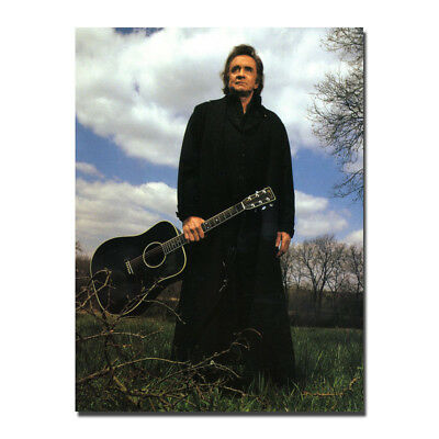 Johnny Cash - Guitar Music Star Art Silk Poster 13x18 24x32 inch