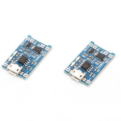2PCS TP4056 5V 1A USB 18650 Lithium Battery Charger Board Protection Module GN