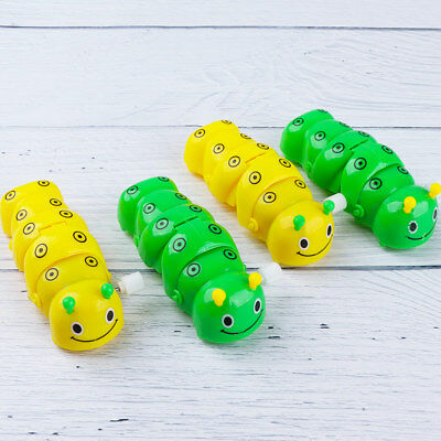 Kid's Lovely Plastic Caterpillar Wind Up Toy Color Random Baby Funny Cute Gifts