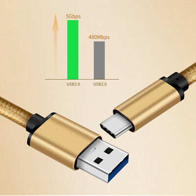 1m USB-C Type USB C 3.0 Male to Type A Data Fast Charge Charging Cable