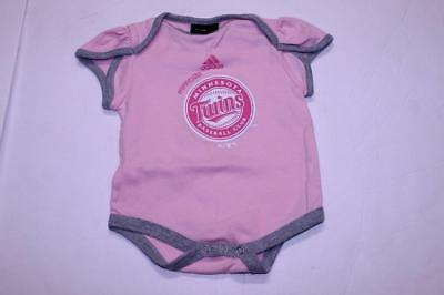 Infant/Baby Girls Minnesota Twins 3/6 Months Creeper One-Piece (Pink) Adidas