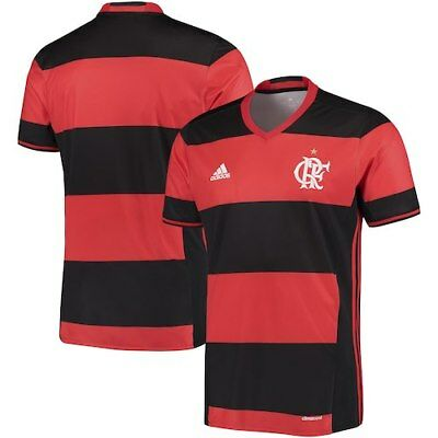 ADIDAS MENS CR Flamengo Brazil Home Football Soccer Jersey Shirt ... bc4bce2ff