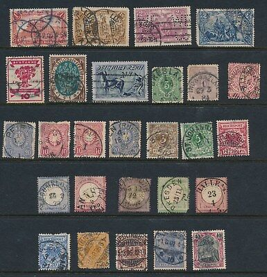 Germany *27 Early Used (1872-1921)*; Many W/faults; Shown Front & Back