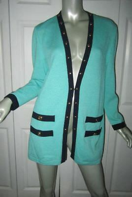 ST. JOHN COLLECTION/Marie Gray Santana Knit Green & Black Jacket Small
