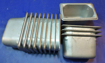 """Stainless Steel Ninth Size 4"""" Deep Steam Table Pan buffet 1/9th"""