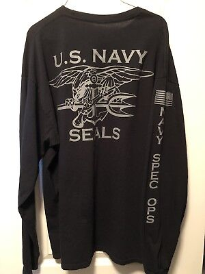 OFFICIAL US NAVY Seal Team T-Shirt USN Seals Trident Special Warfare ... 00475db15d5